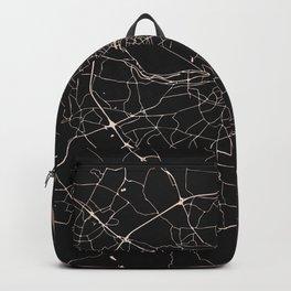 Black on Rosegold Dublin Street Map Backpack