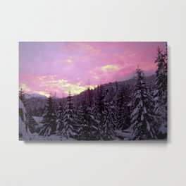 Whistler Winter Sunset Metal Print