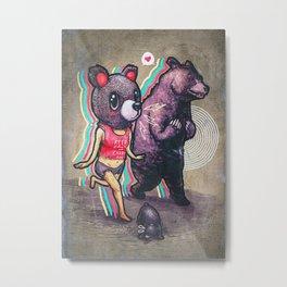 Bear And Woman By Ronan Lynam  Bears  Animal Art  An ... Metal Print