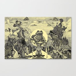 Toad Licking  Canvas Print