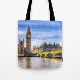 Westminster Bridge and Big Ben Tote Bag