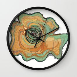 Tree Stump Series 3 - Illustration Wall Clock