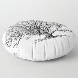 oak tree botanical no2 Floor Pillow