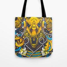 Golden Tricerapod Tote Bag