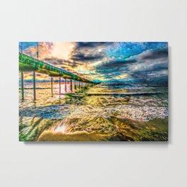 Electric Pier  Metal Print