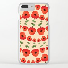 Red poppies dance Clear iPhone Case