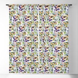 Chic Elegant Artistic Pshychedelic Utopian Painted Eyes Blackout Curtain