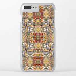 Teeny tiny flowers in yellow Clear iPhone Case