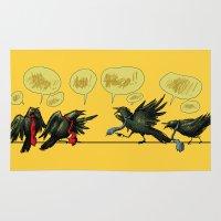 politics Area & Throw Rugs featuring Bird Politics by Aimee Cozza