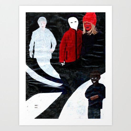 Mørk Svart Art Print