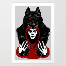red ridin' hood Art Print