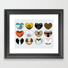 Character Hearts Framed Art Print