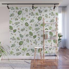 Scattered Garden Herbs Wall Mural