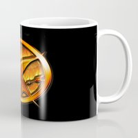 mockingjay Mugs featuring Mockingjay by Joshua Epling