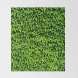 Greenery Luck (Color) Throw Blanket