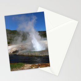 Thermal And Geyser Field Yellowstone NP Stationery Cards