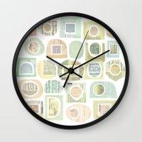 frames Wall Clocks featuring Frames by maria carluccio