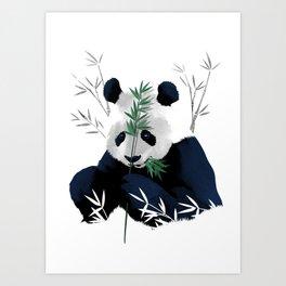 Panda Bamboo Art Print