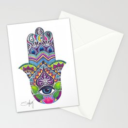 Hamsa Hand Stationery Cards