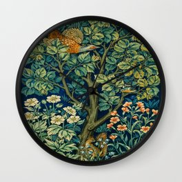 Cock Pheasant (1916) by William Morris and John Henry Dearle Wall Clock