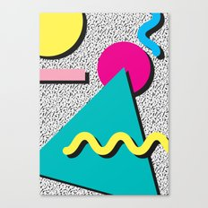 Abstract 1980's Canvas Print