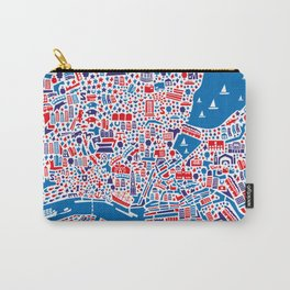 Hamburg City Map Poster Carry-All Pouch