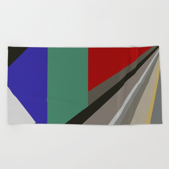 TRAVEL TO NOWHERE ABSTRACT Beach Towel