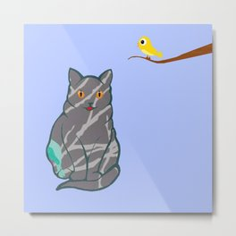 The Cat and the Canary - - Metal Print