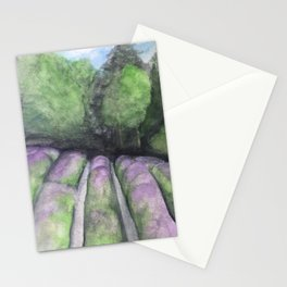Rows of Lavender Stationery Cards