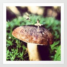 Mushroom Ballet Art Print