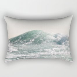 Waves and Sunrise Happy Summer Photography Ocean Beach Vibes Tropical Water Sea Rectangular Pillow