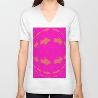 arrows V-neck T-shirts featuring ARROWS by Latidra Washington
