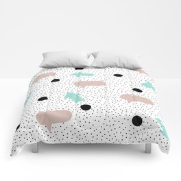 Abstract Dos Shape Art Comforters