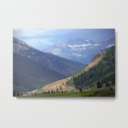 Lookng Back Toward Silverton - On the Alpine Loop Along the Animas River Metal Print