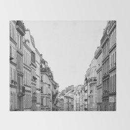 Street in Paris Throw Blanket
