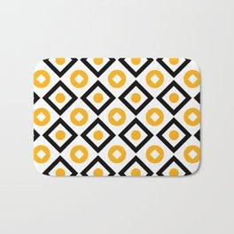 Sun yellow pattern of rhombuses and circles Bath Mat