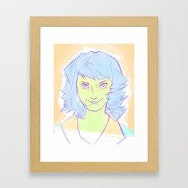 The Smile Framed Art Print