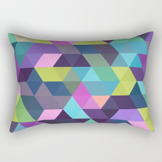 Colorful Geometric Background III Rectangular Pillow
