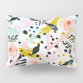 Flowery abstract patterns Pillow Sham