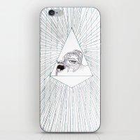 all seeing eye iPhone & iPod Skins featuring All Seeing Eye by Rachel Hoffman