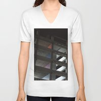 grid V-neck T-shirts featuring grid by jared smith