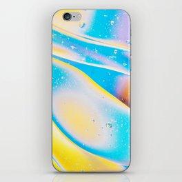 Yellow Blue Viscous Liquid iPhone Skin
