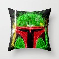 Sketchy Boba Throw Pillow