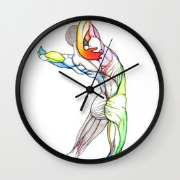 The Grand, nude male anatomy, NYC artist Wall Clock