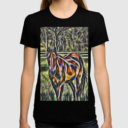 Horse in paddock T-shirt