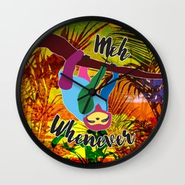 Whenever Sloth Wall Clock