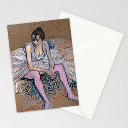 Dancer in Pink Tights Stationery Cards
