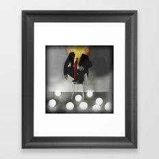 Mr. Glitch: Fear the Light Framed Art Print