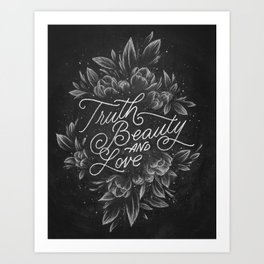 Truth Beauty and Love Art Print