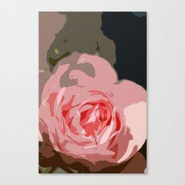 Rosy Rose Canvas Print